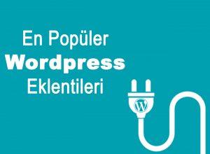 Kullanılabilecek 10 WordPress Eklentisi